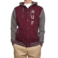 HUF - CAMPUS SNAP FRONT PREMIUM // BURGUNDY / GREY
