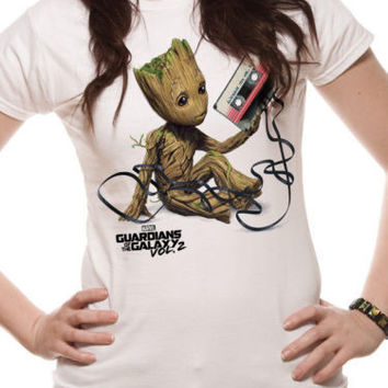 I Am Groot Guardians of the Galaxy 2 Baby Groot T shirt Women & men 100% Cotton tee USA Size XS~3XL