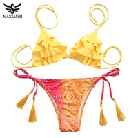 Sexy Bikinis Women Swimsuit Girls Swimwear Halter Top Bottoms Micro Bikini Set Bathing Suits Swim Wear