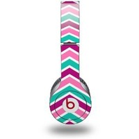 Zig Zag Teal Pink Purple Decal Style Skin - fits genuine Beats Solo HD Headphones (HEADPHONES NOT INCLUDED)