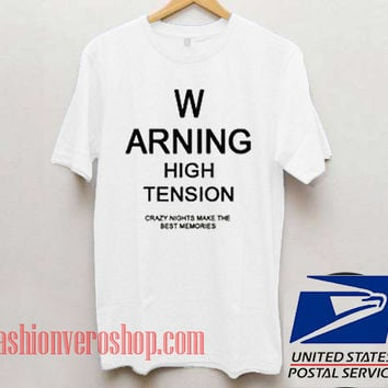 Warning High Tension Unisex adult T shirt