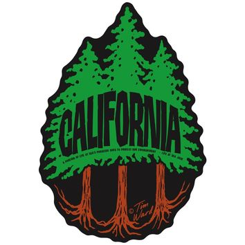 California Redwoods Sticker 3 Trees