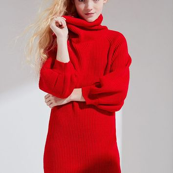 Callahan Cowl Turtleneck Sweater Dress | Urban Outfitters