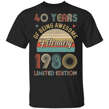 Vintage February 1980 Limited Edition 40th Birthday Gifts