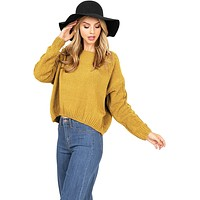 Cable Chenille Knit Sweater