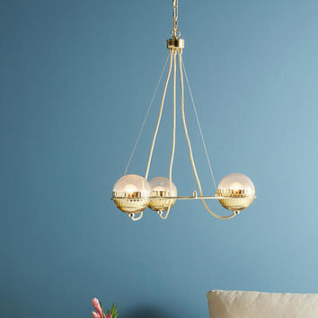 Metallic Globes Chandelier