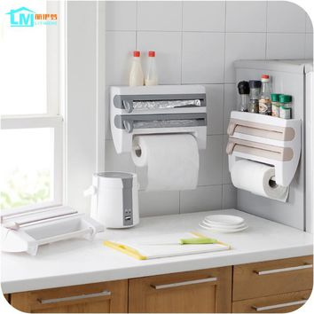 LIYIMENG Kitchen Paper Holder Hanger Tissue Roll Towel Rack Bathroom Toilet Sink Door Hanging Organizer Storage Hook Holder Rack