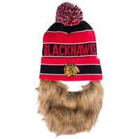 Chicago Blackhawks Sauk Cuff Knit Hat With Beard