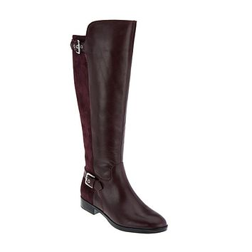 Marc Fisher Damsel Wide Calf Burgundy Tall Shaft Boots
