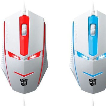 VONEV0G Transformers light game Internet cafe mouse computer accessories peripheral USB mouse promotion special price seven colors.
