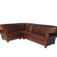 MANHATTAN LEATHER 3-PIECE SECTIONAL WITH WEDGE