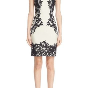 Yigal Azrouël Floral Print Scuba Sheath Dress | Nordstrom
