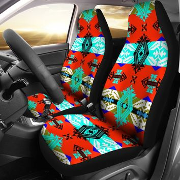 Sovereign Nation Blue Set of 2 Car Seat Covers