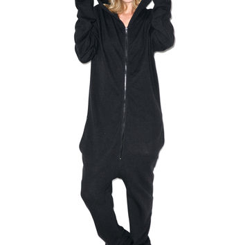 Wildfox Couture Cat Halloween Jumpsuit Jet Black