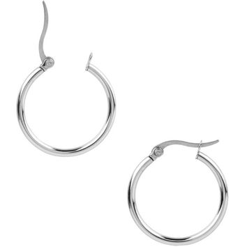 Inox Jewelry 316L Stainless Steel Hoop Earrings 20 to 50mm