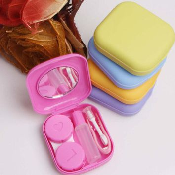 Contact Lenses Case For Women And Men With Mirror Plastic Eyeglasses Case Contact Lens Box Hot Sale
