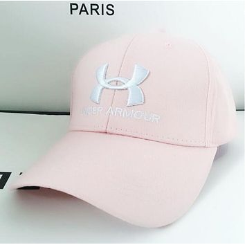 Under Armour Trending Unisex Stylish Embroidery Sports Sun Hat Baseball Cap Hat Pink I13117-1