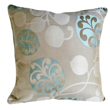 Modern Decorative Throw Pillows Tan and by PillowThrowDecor
