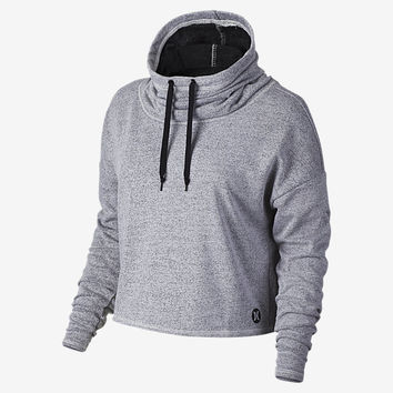 The Hurley Dri-FIT Fleece Crop Cowl Pullover Women's Hoodie.