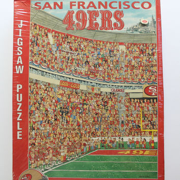 Vintage Brand New Team NFL San Francisco 49ers by John Holladay Jigsaw Puzzle 1994