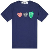 Comme des Garcons Play Triple Heart Tee