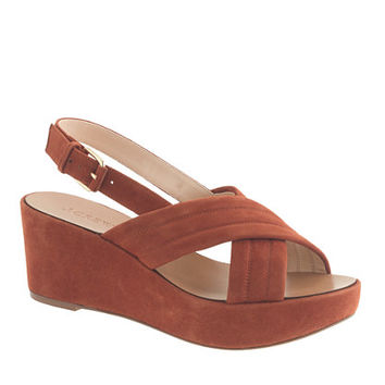J.Crew Womens Marcie Suede Wedges