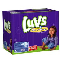Luvs With Ultra Leakguards Size 4 Diapers 180 Count   deviazon.com