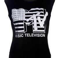 MTV Star Print Tank Top. - Womens Clothing Sale, Womens Fashion, Cheap Clothes Online | Miss Rebel
