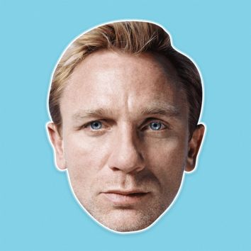 Confused Daniel Craig Mask - Perfect for Halloween, Costume Party Mask, Masquerades, Parties, Festivals, Concerts - Jumbo Size Waterproof Laminated Mask