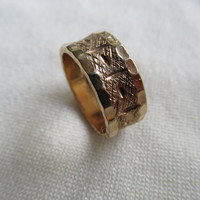 10K Gold-Filled Etched Ring/Band