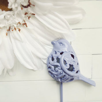 Lilac Metal Filigree Bird Hook / Metal Wall Decor / Shabby Chic / Towel Hook / Metal Wall Hanging / For the Home / Garden Decor / Mothers