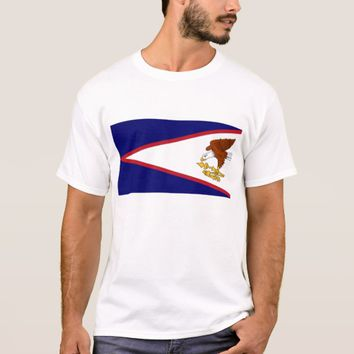 T Shirt with Flag of American Samoa USA