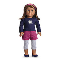 American Girl® Clothing: Coconut Fun Outfit for Dolls + Charm
