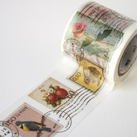 MT ex Postage Stamp Wide Washi Tape