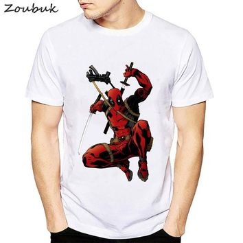 Anime T-shirt graphics Deadpool t shirt men fashion dead pool anime t-shirt Cool Men tshirt clothing cotton male tees plus size summer tops AT_56_4