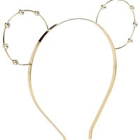 Accessorize Womens Bear Ear Alice Band Size One Size Gold