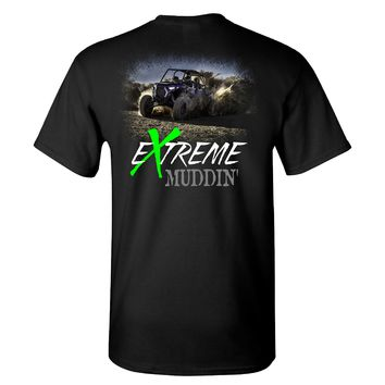 Extreme Muddin Gettin It on a Black T Shirt
