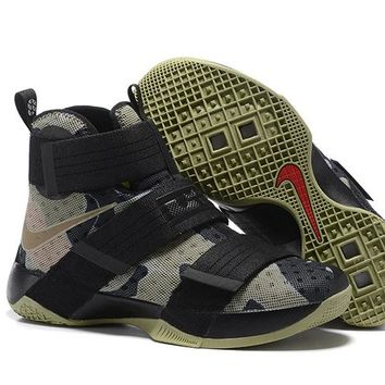HCXX Nike Men's Lebron Soldier 10 Basketball Shoes Camouflage 40-46