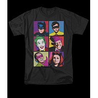Batman Classic TV Pop Cast Mens Tee Shirt