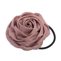 ZLYC Solid Rose Fabric Hair tie