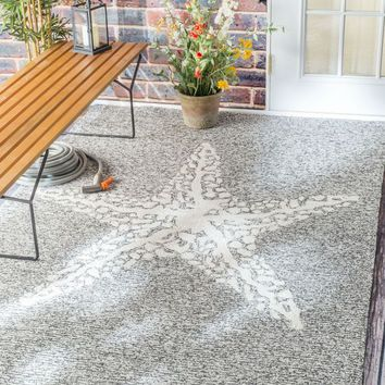 NuLOOM Hand Hooked Marine Indoor/Outdoor Area Rug Rug Grey