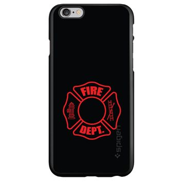 DistinctInk® Spigen ThinFit Case for Apple iPhone or Samsung Galaxy - Red Fire Department