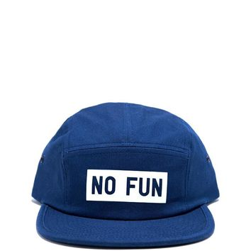 No Fun 5 Panel Hat - Blue