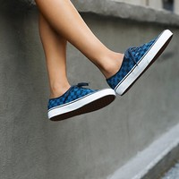 Free People Authentic Stitch Checker Slip-On