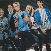 R5 & Ross Lynch reprint band signed photo by all 5 members