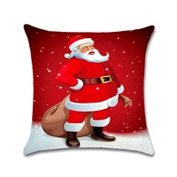 45*45CM Christmas Decorations Red Pillow Case