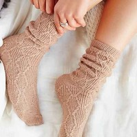 Braided Diamond Boot Sock