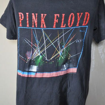 Vintage Pink Floyd 1987 80s Rock US Tour T-Shirt L XL