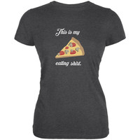 This Is My Pizza Eating Shirt Dark Heather Juniors Soft T-Shirt