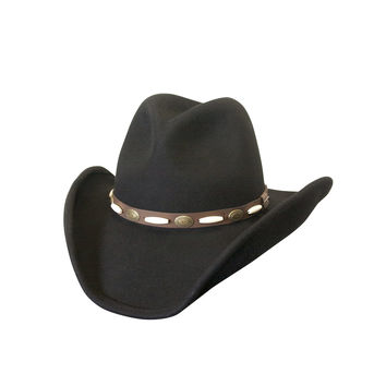 Silver Canyon Shapeable Wool Western Hat (Black)